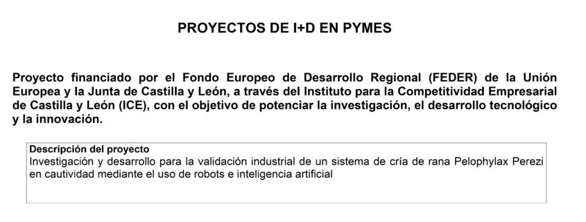 PROYECTOS DE I+D + i